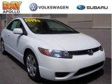 2007 Taffeta White Honda Civic LX Coupe #10595567