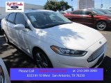2015 White Platinum Metallic Ford Fusion Hybrid Titanium #106265166