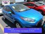 2015 Blue Candy Metallic Ford Fiesta SE Sedan #106265160