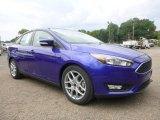 2015 Performance Blue Ford Focus SE Sedan #106265293