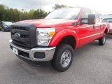 2015 Vermillion Red Ford F250 Super Duty XL Crew Cab 4x4 #106304455