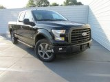 2015 Tuxedo Black Metallic Ford F150 XLT SuperCab 4x4 #106334660