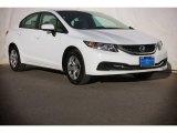 2015 Taffeta White Honda Civic LX Sedan #106420046