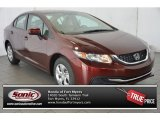 2015 Crimson Pearl Honda Civic LX Sedan #106420012