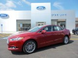 2016 Ruby Red Metallic Ford Fusion SE AWD #106420062
