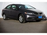 2015 Modern Steel Metallic Honda Civic LX Sedan #106420051