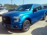 2015 Blue Flame Metallic Ford F150 XLT SuperCrew #106444114