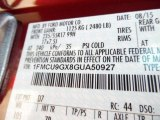2016 Escape Color Code for Sunset Metallic - Color Code: D7