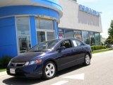 2007 Royal Blue Pearl Honda Civic EX Sedan #10637350