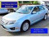 2010 Light Ice Blue Metallic Ford Fusion Hybrid #106585348