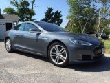 Grey Metallic Tesla Model S in 2013