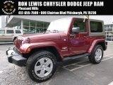 2010 Red Rock Crystal Pearl Jeep Wrangler Sahara 4x4 #106692409
