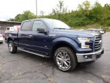 2015 Blue Jeans Metallic Ford F150 XLT SuperCrew 4x4 #106692250