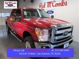2015 Vermillion Red Ford F250 Super Duty XLT Crew Cab 4x4 #106724556