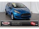 2015 Blue Candy Metallic Ford Fiesta SE Sedan #106724513