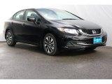 2015 Crystal Black Pearl Honda Civic EX Sedan #106786266