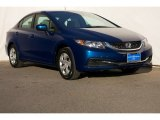 2015 Dyno Blue Pearl Honda Civic LX Sedan #106786265