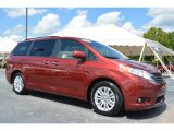 2015 Salsa Red Pearl Toyota Sienna XLE #106793425