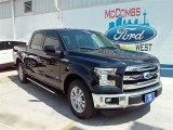 2015 Tuxedo Black Metallic Ford F150 Lariat SuperCrew #106810851