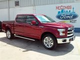 2015 Ruby Red Metallic Ford F150 Lariat SuperCrew 4x4 #106810846