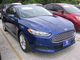 2016 Deep Impact Blue Metallic Ford Fusion SE #106849887