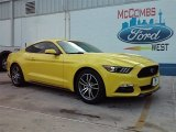 2015 Triple Yellow Tricoat Ford Mustang EcoBoost Premium Coupe #106920052