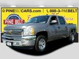 2012 Graystone Metallic Chevrolet Silverado 1500 LS Crew Cab #106985112