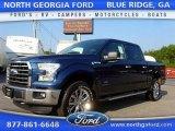 2015 Blue Jeans Metallic Ford F150 XLT SuperCrew 4x4 #106985092