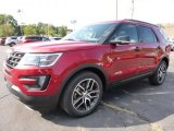 Ruby Red Metallic Tri-Coat Ford Explorer in 2016
