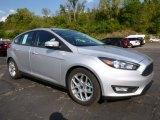 2015 Ingot Silver Metallic Ford Focus SE Hatchback #107011228