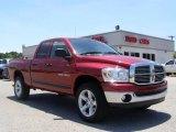 2007 Inferno Red Crystal Pearl Dodge Ram 1500 Big Horn Edition Quad Cab 4x4 #10680563