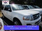 2015 White Platinum Metallic Tri-Coat Ford Expedition EL Platinum #107011118