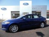 2016 Deep Impact Blue Metallic Ford Fusion SE #107011452