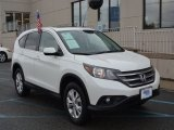 2013 White Diamond Pearl Honda CR-V EX AWD #107044115