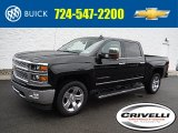 2015 Black Chevrolet Silverado 1500 LTZ Crew Cab 4x4 #107043976