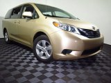 2011 Sandy Beach Metallic Toyota Sienna LE #107043961