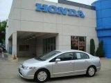 2007 Alabaster Silver Metallic Honda Civic Hybrid Sedan #10674087