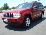 2006 Inferno Red Crystal Pearl Jeep Grand Cherokee Limited #10680859