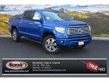 2016 Blazing Blue Pearl Toyota Tundra Platinum CrewMax 4x4 #107106487