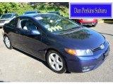 2007 Royal Blue Pearl Honda Civic EX Coupe #107201648