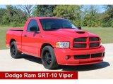 2005 Flame Red Dodge Ram 1500 SRT-10 Regular Cab #107202433