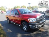 2006 Flame Red Dodge Ram 1500 ST Quad Cab #107202548