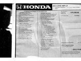 2015 Honda Civic LX Sedan Window Sticker
