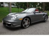 2008 Meteor Grey Metallic Porsche 911 Turbo Cabriolet #107268423