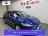 2016 Deep Impact Blue Metallic Ford Fusion SE #107268459