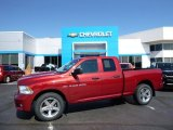 2012 Deep Cherry Red Crystal Pearl Dodge Ram 1500 ST Quad Cab 4x4 #107268754