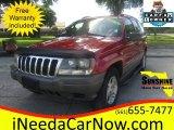 2002 Inferno Red Tinted Pearlcoat Jeep Grand Cherokee Laredo #107268200