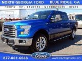 2015 Blue Flame Metallic Ford F150 XLT SuperCrew 4x4 #107268186