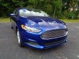 2016 Deep Impact Blue Metallic Ford Fusion S #107340761