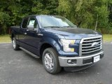 2015 Blue Jeans Metallic Ford F150 XLT SuperCab #107340746